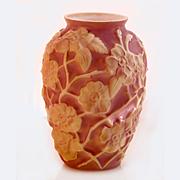 Phoenix Glass Pink Vase, Lamp, 1930s