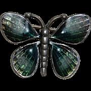 Enamel on Pewter Green Butterfly