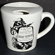 SALE Meditative Elephant ~ 'Cheap Outfits' Black & White Ceramic Mug