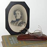 1900s Hofmann Art Studio ~ Victorian Lady in Black Frame