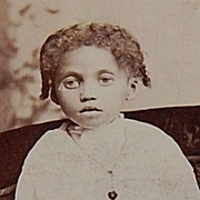 SOLD Victorian African-American Girl Photo Cabinet Card