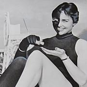 1959 Black & White Harlequin Lady ~ Promotional Photo