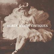 SOLD Victorian Ballerina Girl ~ Original Photograph w/ ID & Card