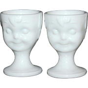 SALE Guernsey ~ Set of 2 Hummel Milk Glass Egg Cups