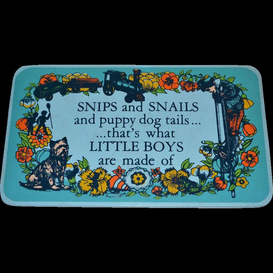 1971 Yorkraft ~ Snips & Snails & Puppy Dog Tails...Wall Plaque
