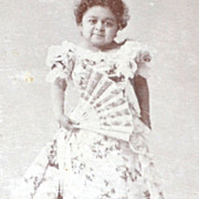 "1896 ""Chiquita ~ The Living Doll"" Cabinet Card Photograph"