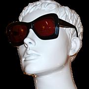 SALE 1980s Valentino ~ Black Asymmetric Sunglasses