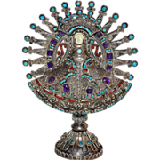 SOLD MATL ~ Sterling Turquoise, Amethyst & Coral Candelaria