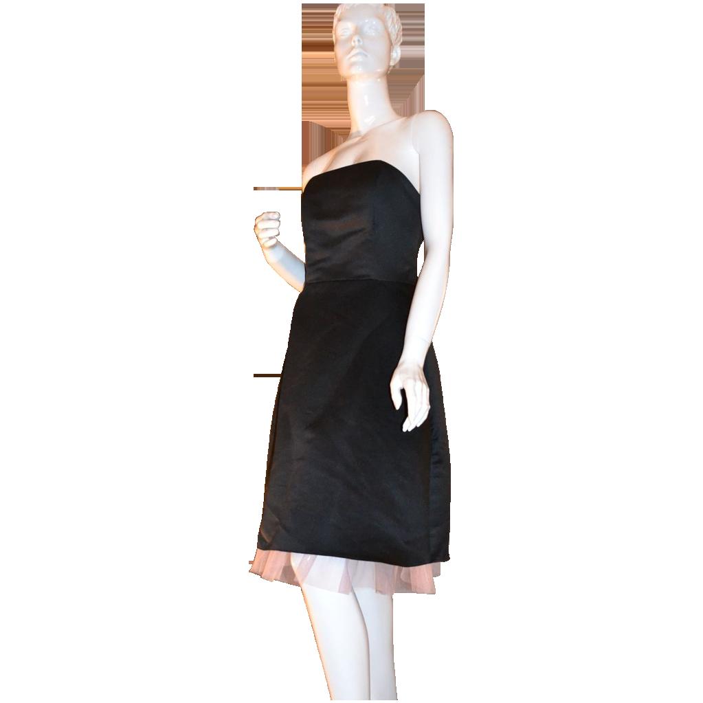 Jessica McClintock Gunne Sax ~ Black Dress w/ Pink Tulle