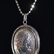 Italian Sterling 925 Cameo Relief Pendant Necklace