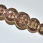 Vintage Row of Buttons Tie Tack Pin