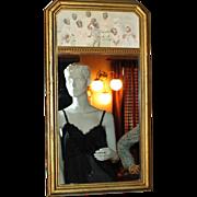 1925 Black Americana Children Wood Frame Mirror