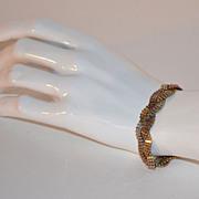 1970s Sterling Vermeil Tri-Color Braided Link Bracelet
