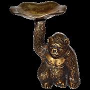 Heavy Solid Brass Gorilla Monkey Trinket Dish