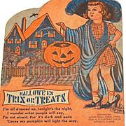 SALE 1940/50s Rosen ~ Halloween Lollipop Candy Card Holder