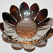 Silverplated Daisy Flower Bon Bon Dish ~ Made in England