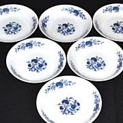 Lennold ~ Set of 6 Blue Meissen Fruit/Dessert/Sauce Bowls