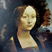 SALE Leonardo Da Vinci ~ Ginevra De Benci Reproduction Art Print