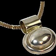 28G Sterling Large Oval Medallion Pendant