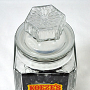 SALE Koeze ~ Large Cut Glass Candy Jar w/ Lid