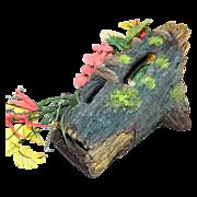 SALE Huge Aquarium Faux Wood Log w/ Flowers & Foliage