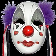 1989 UCGC ~ Porcelain Clown Face Mask