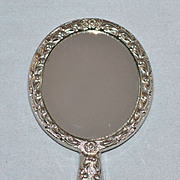 "Vintage Silvertone 3"" Doll Hand Mirror"