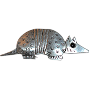 JJ ~ Pewter Armadillo Brooch/Pin