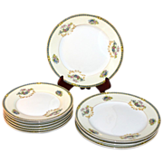 Noritake Romance ~ 10 Pc Salad & Bread and Butter Plate China Set