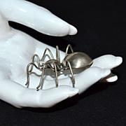 Sterling Silver Spider Brooch/Pin