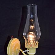 1970s Mustard Yellow Hurricane Wall Arm Lamp