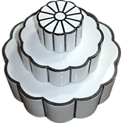 1930s Art Deco Wedding Cake Milk Glass Light Globe