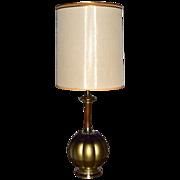 Mid-Century Modern Gothic Genie Globe Lamp w/ Shade