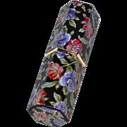 Revlon Lustrous Lipstick in Black Hexagonal Rose Case