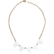 White Enamel Ghost Necklace