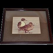 SALE Original Sepia Tone Duck Photograph in Wood Frame