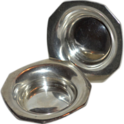 Frank W. Smith Sterling Silver Set of 2 Small Nut, Pin or Trinket Dishes