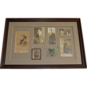 SALE Elegant Framed Shadow Box of 7 Unique Family Photographs, Cabinet Cards, Daguerreotype of
