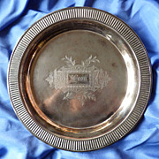 Silver Plated Serving Dish with Engraving