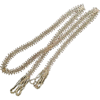 Glass Seed Bead Flapper Necklace, 48""