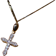 Very neat Diamond Cross & Chain
