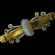 1900s 15ct  Gold Opal Brooch
