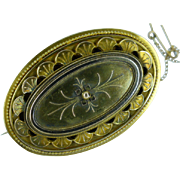 Victorian 18k  GOLD oval Brooch