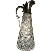 1900 London Hallmarked large Silver / Glass Decanter
