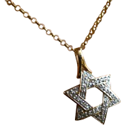 "Diamond ""Star of David"" Pendent & Chain * * * * *"