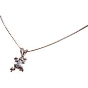 18k Diamond FROG Pendent with Chain