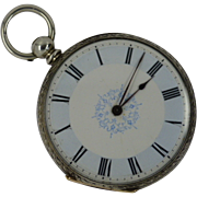 REDUCED Charming Silver Antique Engraved Pocket Watch