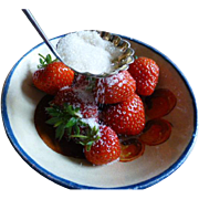 Strawberry time….Silver 1901 Sugar Sifting Spoon