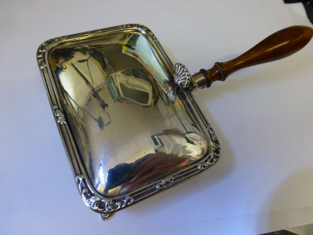 "Solid Silver ""Harrods""Silent Butler Tray / Crumb Pan"