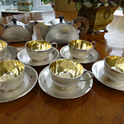 Ancient Oriental  Solid Silver Tea Service